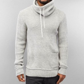 Mikina Just Rhyse Knit Sweater Grey Bone