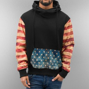 Mikina Just Rhyse Dirty Flag Hoody Black