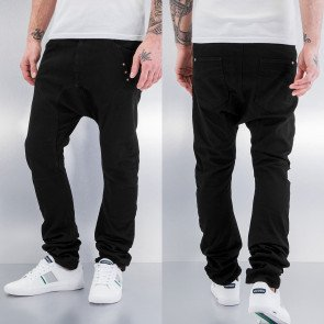 Nohavice Just Rhyse Three Stars Antifit Jeans Black