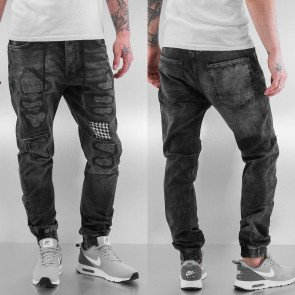 Jeans Just Rhyse Checked Antifit Black
