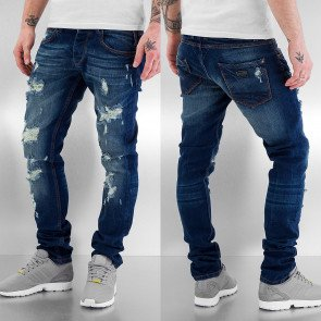 Nohavice Just Rhyse Destroyed Straight Fit Blue