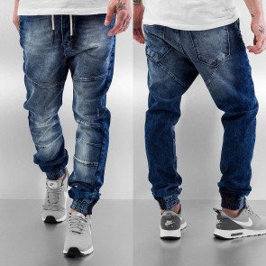 Nohavice Just Rhyse Cool Straight Fit Dark Blue