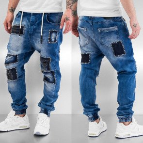 Nohavice Just Rhyse Patches Straight Fit Blue