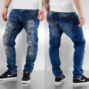 Nohavice Just Rhyse Destroyed Carrot Jeans Blue