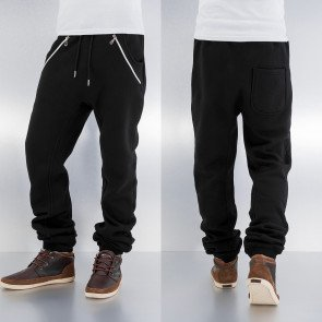 Just Rhyse Rasco Zip Sweat Pants Black
