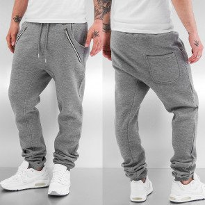 Tepláky Just Rhyse Rasco Zip Sweat Pants Grey Melange