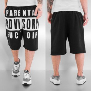 Kraťasy Just Rhyse Parental Advisory Shorts Black