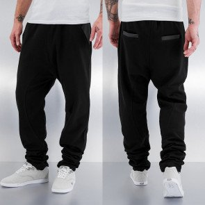 Tepláky Just Rhyse PU Pocket Sweat Pants Black