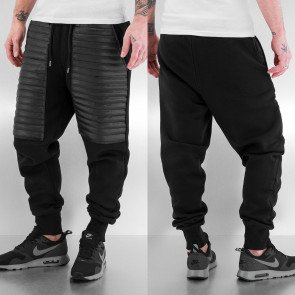 Tepláky Just Rhyse PU Sweat Pants Black
