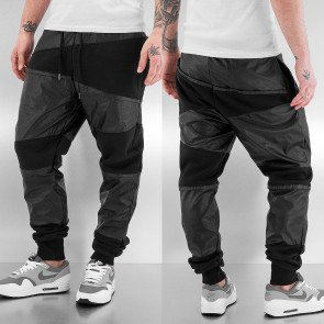 Just Rhyse PU Sweat Pants Black