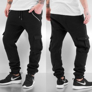 Tepláky Just Rhyse Cargo Sweat Pants Black