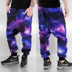 Tepláky Just Rhyse Galaxy Deep Crotch Sweat Pants Purple