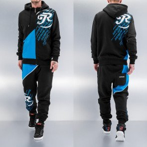 Mikina Just Rhyse Logo Sweat Suit Black Blue