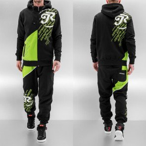 Mikina Just Rhyse Logo Sweat Suit Black Green