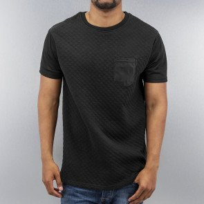Tričko Just Rhyse Quilted T-Shirt Black
