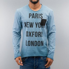 Tričko Just Rhyse Paris Longsleeve Blue