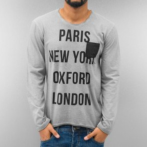 Tričko Just Rhyse Paris Longsleeve Grey