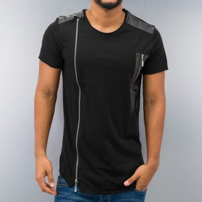 Just Rhyse Zipper T-Shirt Black