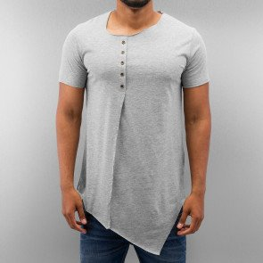 Tričko Just Rhyse Button T-Shirt Grey