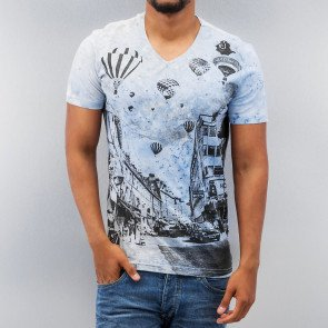 Tričko Just Rhyse Hot Air Ballon T-Shirt Blue
