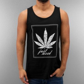 JUST RHYSE JUST WEED TANK TOP BLACK