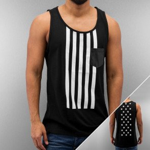 JUST RHYSE STARS AND STRIPES TANK TOP BLACK