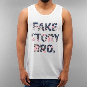 Tričko Just Rhyse Fake Story Bro Tank Top White