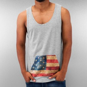 Tričko Just Rhyse Amerika Tank Top Grey Melange