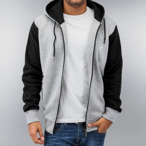Mikina Just Rhyse 2 Tone Time Zip Hoody Grey Melange