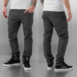 Nohavice Just Rhyse Cool Skinny Dark Grey