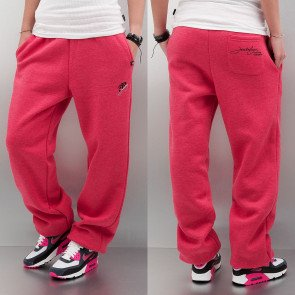 Tepláky Just Rhyse Woman Basic Sweat Pants Red Melange