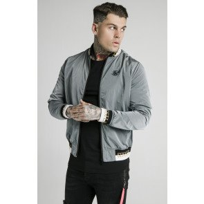 SIKSILK CRUSHED NYLON BOMBER JACKET - DELUXE COLLECTION