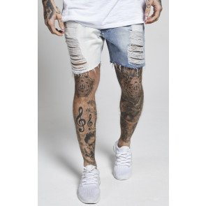 Kraťasy Illusive London Half Color Distressed Shorts