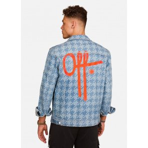 OFF THE PITCH HOUNDSTOOTH DENIM