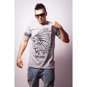 Tričko Criminal Damage T-Shirt Tomahawk Grey