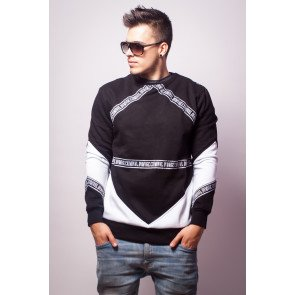 Mikina Criminal Damage Sweater Downtown Black/white