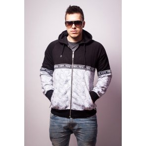 Mikina Criminal Damage Hoodie Uptown Zip Hoody Black Grey