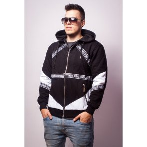 Mikina Criminal Damage Hoodie Downtown Black White