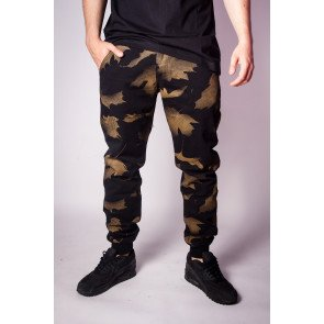 Nohavice Backyard Cartel Chino Jogger Fit Black Camo