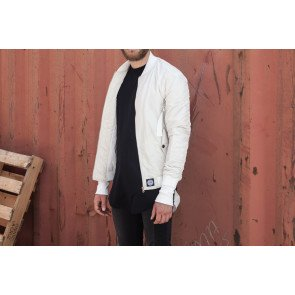 Bombera Sixth June Bomber Jacket Strap Off White