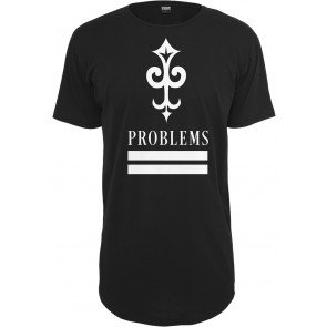 Tričko Urban Classics Key Problems Long Tee Black