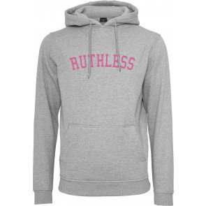 Mikina Mister Tee Ruthless Heather Grey Pink