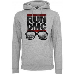 Mikina Mister Tee Run Dmc City Glasses Hoody Heather Grey