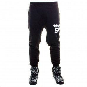 Tepláky Cayler & Sons BLLB Victoire Low Crotch Sweatpants Black White