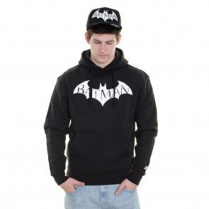 Mikina Starter Sweatshirt Batman Arkham Midnight Hood Black White