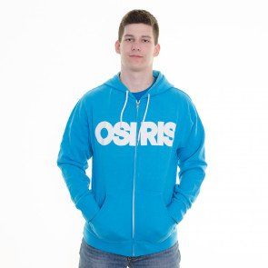 Mikina Osiris Zip Nyc Blue Turquoise White