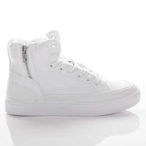 Tenisky Urban Classics Zipper High Top Shoe White