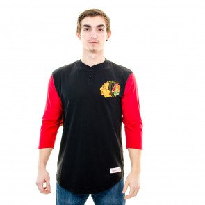 Tričko Mitchell & Ness Chicago Blackhawks Black Red
