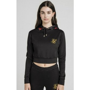 SikSilk Majestic Cropped Track Top – Black
