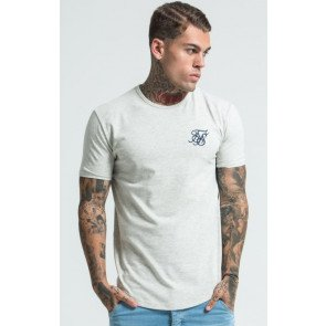 Tričko SikSilk Short Sleeve Gym Tee Snow Marl